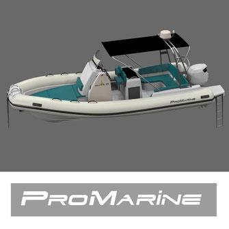Bateau semi rigide Pro marine Helios 25 mistral plaisance