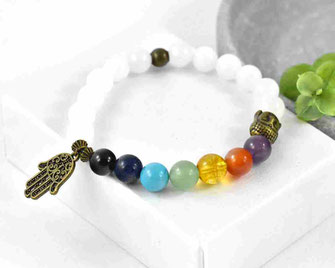 Chakra Edelstein Armband mit  Jade Perlen, 8 mm  21,90 €