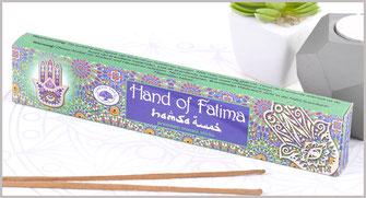 """räucherstäbchen Green Tree Incense """"Hand Of Fatima"""" 15gr."""
