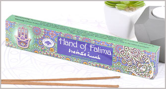 "räucherstäbchen Green Tree Incense ""Hand Of Fatima"" 15gr."