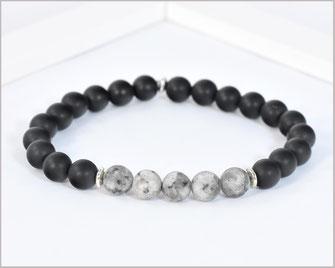 Edelstein Armband Männer- Selbstvertrauen - Jaspis - Armband matt  8 mm  22,90 €