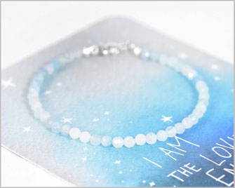 # Aquamarin Edelstein Armband  4 mm, 925 Silber -  Länge wählbar  38,90 €