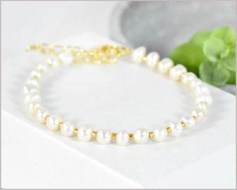 Süßwasser Perlen Armband  4 mm mit Miyuki Perlen Mix  21,90 €