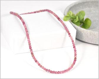 # Turmalin rosa Edelstein Kette 3 mm mit  925 Silber  69,90 €