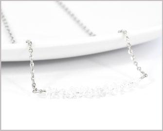 Bergkristallsplitter 3-7 mm Edelsteinkette mit Edelstahl  Länge wählbar  21,90 €