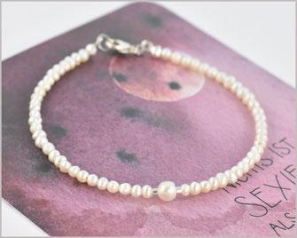 Süsswasser Perlen Armband 2 - 4 mm  925 Silber vergoldet  21,90 €