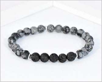 Edelstein Armband Männer - Optimismus Obsidian  8mm  22,90 €