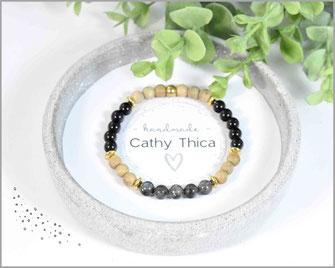 Achat - Labradorit Edelstein Armband mit  Sandelholzperlen 6 mm  19,90 €