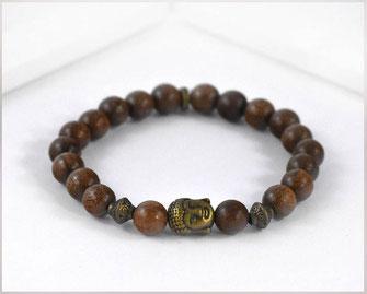 Männer Armband - Sandelholz Perlen 8mm