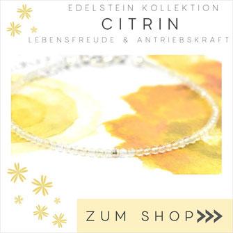 Citrin Edelstein Armband und 925 Silber Verschluß