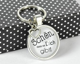 Schlüsselanhänger versilbert mit Sinnspruch Schön ...