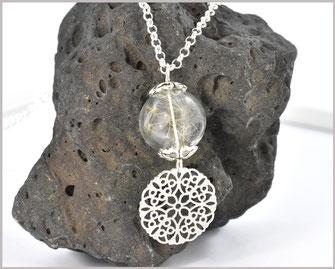 Pusteblumenkette lang mit Anhänger Mandala
