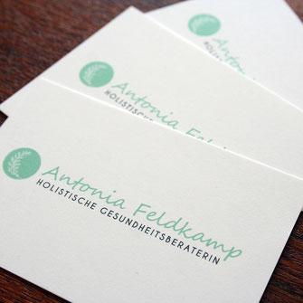Antonia Feldkamp, Holistische Gesundheitsberaterin,Grafikdesign, Corporate Design, Flyer, Postkarte, Grafikdesign Stuttgart, Eiscafé, Restaurant Design, Gutschein Design, Illustration, Typografie