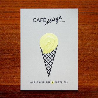 Grafikdesign, Corporate Design, Flyer, Postkarte, Grafikdesign Stuttgart, Eiscafé, Restaurant Design, Gutschein Design, Illustration, Typografie