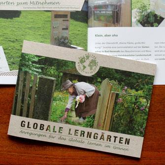 Globale Lerngärten, finep, Editorialdesign, Grafikdesign, Corporate Design, Flyer, Postkarte, Grafikdesign Stuttgart, Eiscafé, Restaurant Design, Gutschein Design, Illustration, Typografie