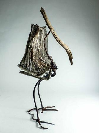 sculpture bois métal Radiateur