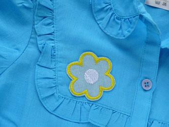 Bild: Blumen Patch zum aufbügeln als Accessoire zum verschönern von Blusen