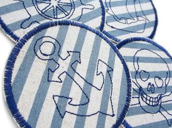 Bild: Hosenflicken zum aufbügeln mit maritimen Piraten Motiven