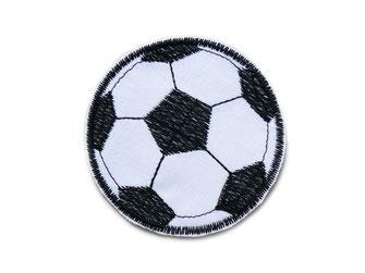 Bild: Applikation Aufnäher Fußball Patch zum aufbügeln für Kinder