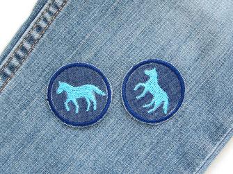 Bild: kleine Pferde Bügelbilder Jeansflicken zum aufbügeln, Mini Flicken für Kinder