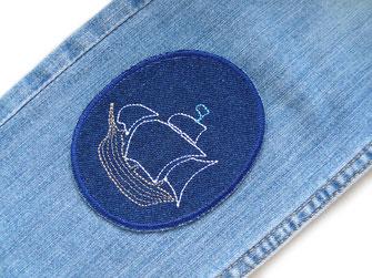 Bild: große Piraten Bügelbilder als Flicken zum aufbügeln für Kinder