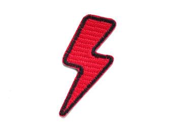 Bild: Patch roter Blitz, Flash Aufnäher zum aufbügeln