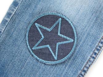 Bild: Jeansflicken Stern zum aufbügeln, Knieflicken für Kinder