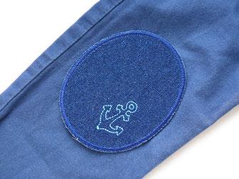 Bild: große Knieflicken mit Piraten, Schiffen und Schätzen für Kinder zum aufbügeln
