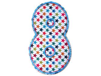 Bild: Geburtstagszahl 8, Zahlen Applikation Aufbügler, Geschenk zum Kindergeburtstag