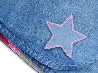 Bild: Stern Bügelbild als Jeansflicken zum Reparieren von Löchern
