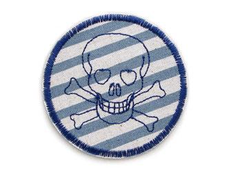 Bild: Totenkopf skull Jeansflicken Hosenflicken Knieflicken für Jungen