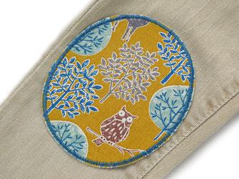 Bild: Flicken zum aufbügeln für helle Hosen