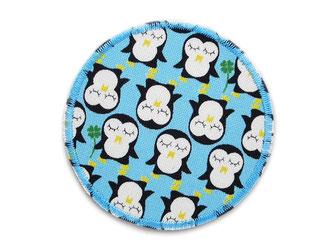 Bild: Pinguin Applikation Hosenflicken zum aufbügeln für Kinder hellblau