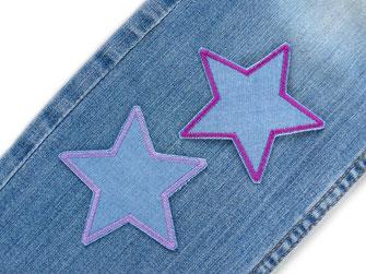 Bild: Stern Bügelflicken als Flicken für Jeanshose