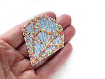 Bild: Bügelbild bunter Diamant, Accessoire Flicken zum aufbügeln