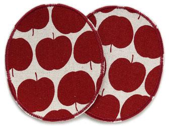 Bild: große Apfel Knieflicken zum aufbügeln im Retro Look
