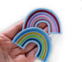 Bild: Accessoires zum aufbügeln Regenbogen Aufbügler
