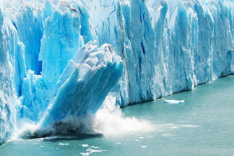 Climate change--icebergs calving