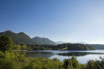 Le lac de Lourdes et son golf