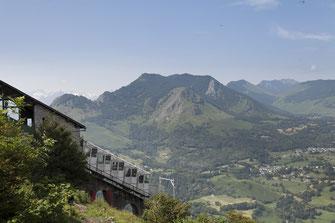 Le funiculaire du Pic du Jer à Lourdes