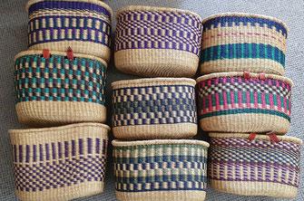 Den Radkorb gibt es in vielen Farben und Mustern