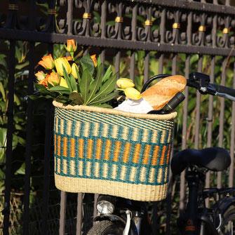 Fahrrad-Korb einfach an den Lenker schnallen