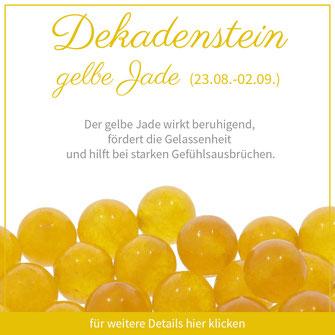 gelbe Jade jungfrau sternzeichen bedeutung edelstein schmuck geburtstein