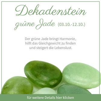 grüne Jade waage sternzeichen bedeutung edelstein schmuck geburtstein