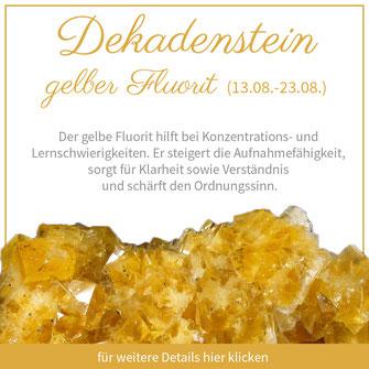 gelber Fluorit löwe sternzeichen bedeutung edelstein schmuck geburtstein