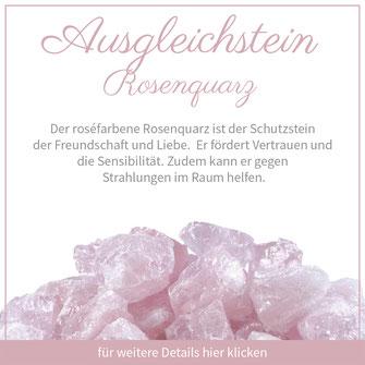 rosenquarz widder gausgleichstein bedeutung edelstein schmuck