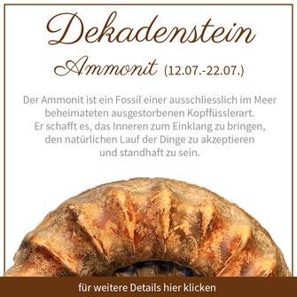 ammonit krebs sternzeichen edelstein bedeutung schmuck geburtstein