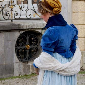 Regency Day Dress, Spencer Jacket and  Turban Hat