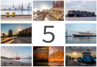 Dockland Elbphilharmonie Landungsbruecken Spiegelung Hafen Hamburg