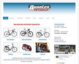 Van Bun Communicatie en Vormgeving - Website Quanten Fietsshop